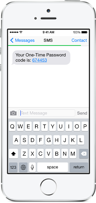 Out of band authentication SMS OTP